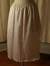 "Vtg 60s JC Penney White Nylon 13"" DOUBLE SIDE SLIT HALF SLIP M Intimate Lingerie"