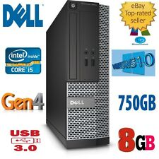 Dell OptiPlex i5 SFF 3020,8Gb.750 4TH CPU GEN-4570 @ 3.20Ghz Win10 USB3. garantía.