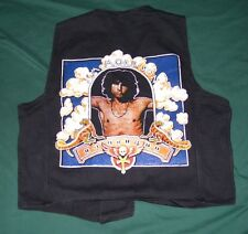 Jim Morrison Painted black vest Fantasy A & G inc. The Doors 70's Rock 100% cotn