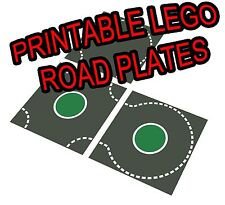 "LEGO 11""x17"" Printable Road Plate Roundabout Dark Gray PDF on CD New style"