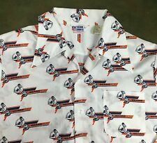 True Vintage 70s Chicago Bears NFL Football Graphic Team Button-Up Dress Shirt L