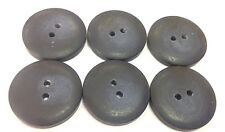 Large retro buttons shabby chic flat penny x6 pack 24-28mm dia