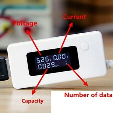 USB Power Charger Capacity Current Volt Amp Test LCD Charging Detector PC Phone
