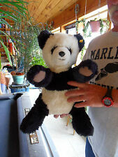 Steiff Panda panda bear  large  button flag  made in Germany 1208