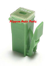 SLOW BLOW FUSE - PAL MINIATURE & LOCKING CLIP TYPE 30 AMP JAPANESE GREEN OR PINK