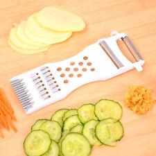2X 5 in1 Vegetable Fruit Potato Slicer Cutter Peeler Chopper Grater Easy to Use