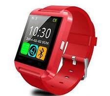 RELOJ INTELIGENTE ROJO SMARTWATCH BLUETOOTH ANDROID SAMSUNG IPHONE PULSERA