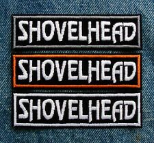 "SHOVELHEAD SHOVEL Biker Motorcycle Patch by Dixiefarmer 1"" X 4"" PICK YOUR COLOR"