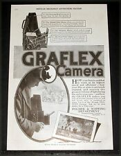 1917 OLD MAGAZINE PRINT AD, GRAFLEX CAMERAS, GOOD PICTURES ON DULL CLOUDY DAYS!