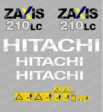 HITACHI ZAXIS 210LC DIGGER DECAL STICKER SET WITH SAFETY WARNING SIGNS