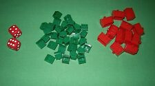 Monopoly Standard 1985 - Parts - Hotels, Houses, Red Dice     #MP05