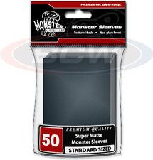 (5) BCW-MSL-LMN-BLK Large Black Monster Protectors Trading Card Sleeves MTG