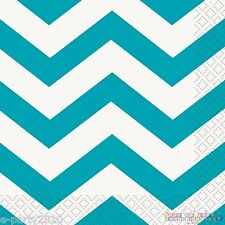 TEAL CHEVRON LUNCH NAPKINS (16) ~ Baby Shower Birthday Party Supplies Dinner
