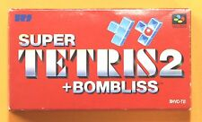 TETRIS 2 + BOMBLISS BOX Nintendo Super Famicom Japanese SNES FREE Shipping USED