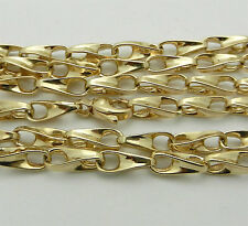 "33.4 grams Solid 14k Yellow Gold Fancy Style Chain Necklace 27.5"" long HEAVY"