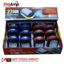 12 x 27 Led Worklight Hook&Magnet IncBatteries Torch Lamp Flashlight C169 Proamp