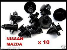 Nissan 300 Maxima Push-Type Replacement Black Plastic Clip Retainer T13
