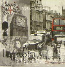 4x Single Table Party Paper Napkins for Decoupage Decopatch Vintage London