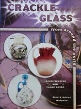 CRACKLE GLASS PRICE GUIDE COLLECTOR'S BOOK Lamps Pitchers Jugs Decanters Glasses