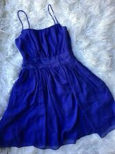 H&M Size 4 Blue Empire Waist Dress Casual Wear Dress Chiffon Style B5