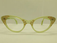 Vintage SCHIAPARELLI Cat Eye 1950'S Eyeglasses Eyewear FRAMES 46-21-135 TV5 8130