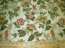 "~BTY~J SMITH~CHINOISERIE""CHINESE FISHERMAN""100% SILK~UPHOLSTERY FABRIC FOR LESS~"
