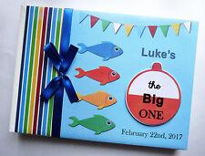 Personalizado Pesca temática niño/niña primera/1ST cumpleaños del libro de visitas cualquier-Diseño
