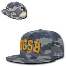 Camo UC Santa Barbara Gauchos UCSB NCAA Flat Bill Snapback Ball Baseball Hat Cap