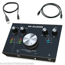 M-Audio M-Track 2X2 24-bit 2-Ch USB Audio Recording Interface + Cubase + More