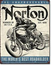 Norton Motorcycles World's Best metal sign    410mm x 300mm  (de)