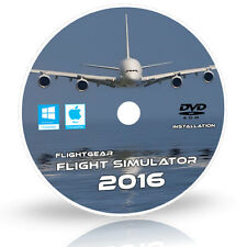 FlightGear Flight Simulator 2016.2.1 X Sim 500 Aircraft Windows 10 8 7 XP PC DVD