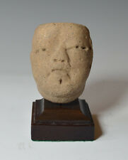 Pre columbian ancient mexico olmèque pottery head circa 1200 bc 400 bc