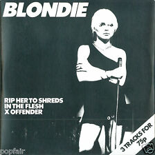 BLONDIE RIP HER TO SHREDS IN THE FLESH X OFFENDER CD SINGLE CARD SLEEVE 2004
