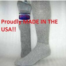 12 Pr. PRO-TREK Gray Over The Calf Crew Socks Size 10-13 Mens Boot Socks
