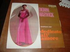 """DIONNE WARWICK   SANREMO'67 """" DEDICATO ALL'AMORE """" ITALY"""