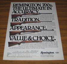 1979 Vintage Ad Remington 700s Bolt Action Rifles 4 Models Shown