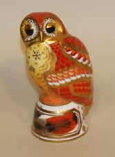 1999 Royal Worcester Imari Candle Snuffer Figurine Paperweight Orange Tawny Owl
