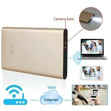 H. 264 FULL HD 1080P WIRELESS WIFI / P2P SPY TELECAMERA MINI DVR in 5000mAh Power Bank
