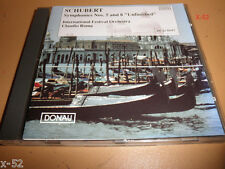 SCHUBERT Symphony No 5 & 8 Unfinished CD Claudio Roma
