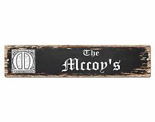 SP0873 The MCCOY Family name Sign Bar Store Shop Cafe Home Chic Decor Gift