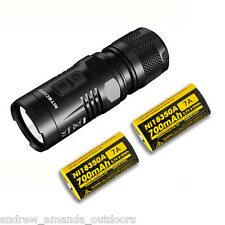 Nitecore EC11 Flashlight 900 Lumens XM-L2 (U2) LED -w/ 2x IMR 18350 Battery