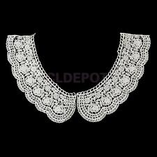 White Flower Lace Cotton Collar Sewing Craft Neckline Clothing Trimming DIY