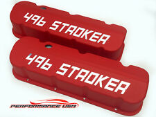 Big Block Chevy 496 STROKER Die Cast Aluminum Red Valve Covers