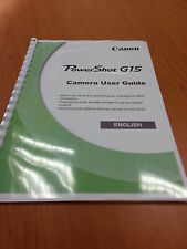 Canon powershot g15 full user manual guide instructions imprimées 316 pages A5
