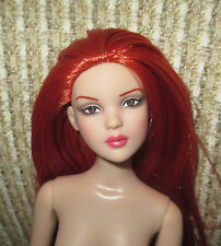 Tonner Deja Cami Malone nude doll only, brown eyes and red rooted hair- no box