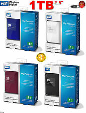 "HARD DISK ESTERNO 1TB 2.5"" WD MY PASSPORT ULTRA USB3.0 & 2.0 HDD 1000GB Nuovo"