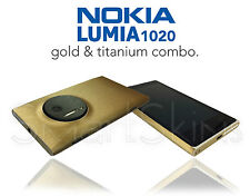 Brushed Metal Two Tone Skin For NOKIA LUMIA 1020 Wrap Cover Sticker Decal Case