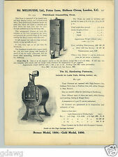 1913 PAPER AD Genuine Lieuvain's Needle Lubricator Grease Gun