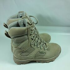 Men's & Boy's Wellco Tan X-4orce Lightweight Combat Hike Boots Slip Resist-4.5 R