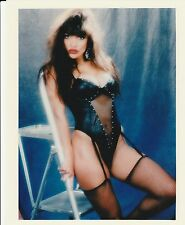 KIMBERLY TAYLOR 8x10 SEXY BLACK OUTFIT PENTHOUSE PET OF MONTH 1988 DECEMBER